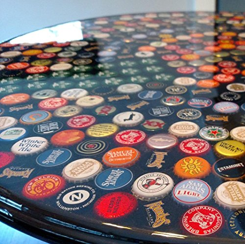 Epoxy Table Top With Bottle Caps