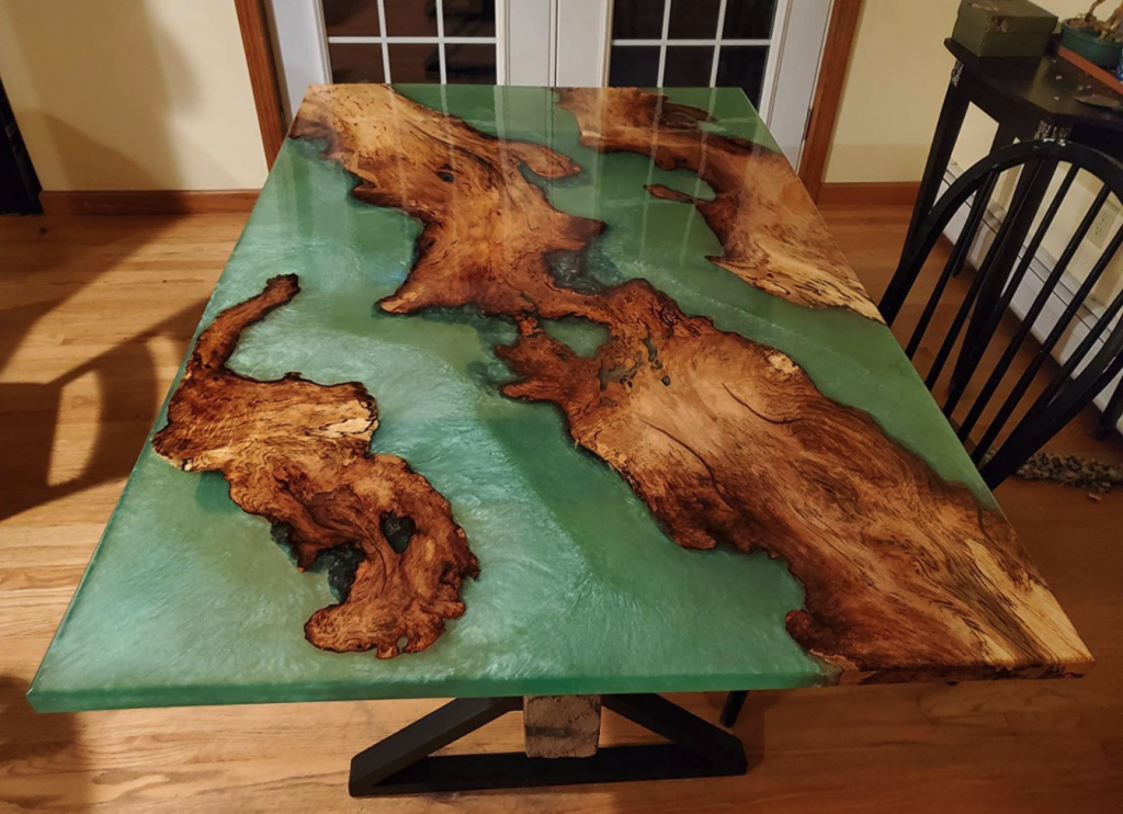 Custom Colored Epoxy Table